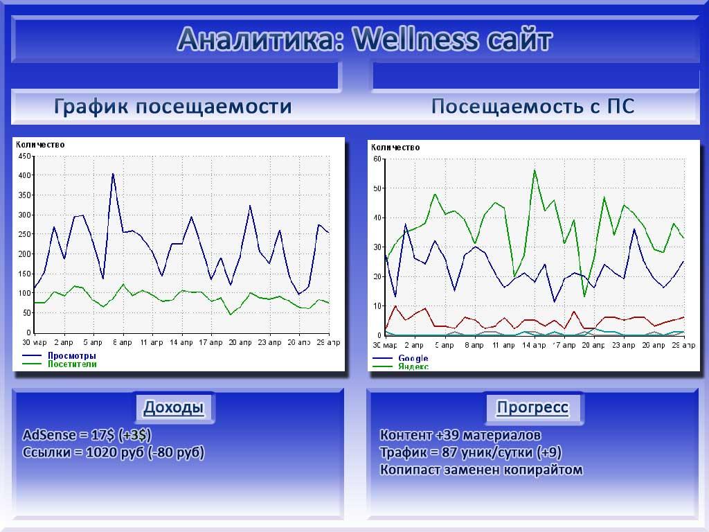 отчет сайта wellness в инфографике