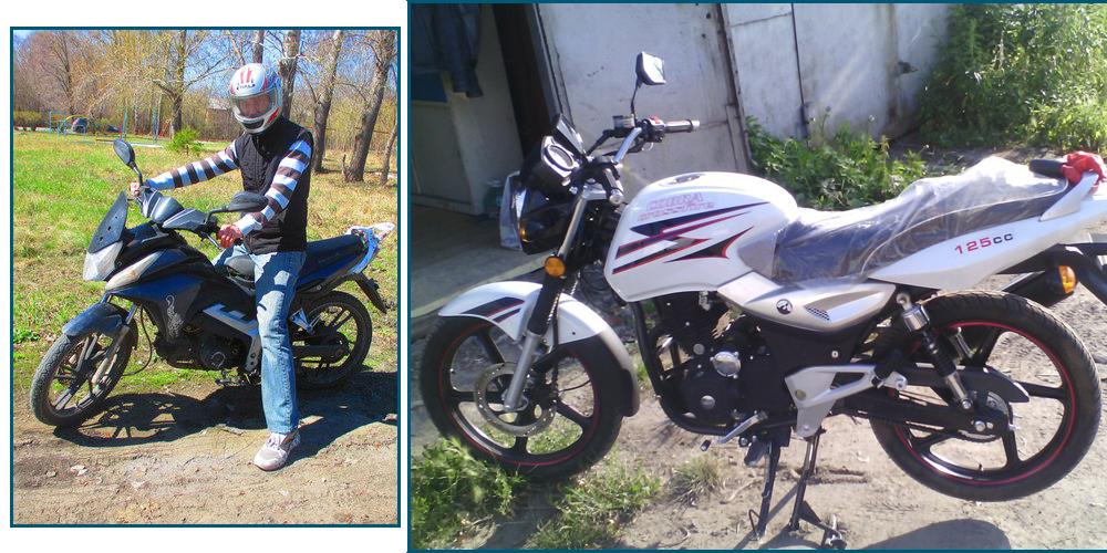 Слева мопед, справа мой первый мотоцикл Кобра 125