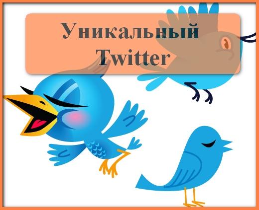 Сделать уникальный Твиттер